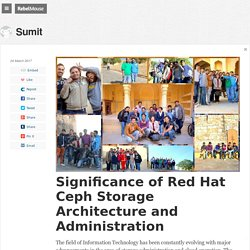 Significance of Red Hat Ceph Storage Architecture and Administration