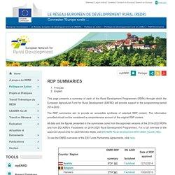 Le Réseau européen de développement rural (REDR)