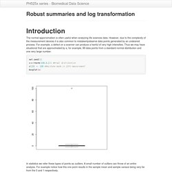 Robust summaries and log transformation