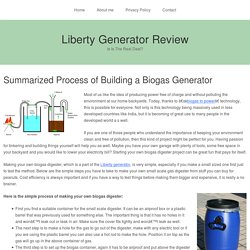 Summarized Process of Building a Biogas Generator
