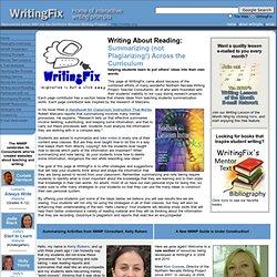 Writing about Reading...Summarizing (instead of Plagiarizing)