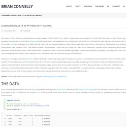 Summarizing Data in Python with Pandas