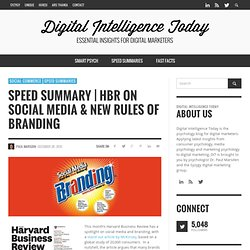 Speed Summary | HBR on Social Media & New Rules of Branding
