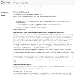 Terms of Service update – Policies & Principles – Google