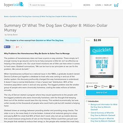 Summary Of What The Dog Saw Chapter 8: Million-Dollar Murray - Quicklet on What The Dog Saw