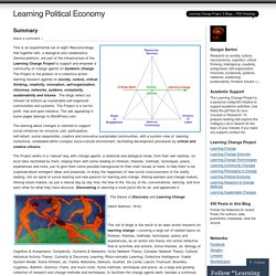Learning Political Economy