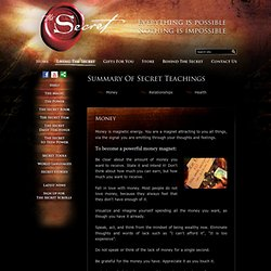 Official Web Site of The Secret and The Power