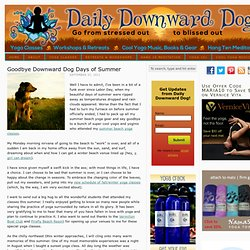 Summer Beach Yoga - Goodbye Downward Dog Days of Summer | The Daily Downward Dog
