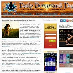Summer Beach Yoga - Goodbye Downward Dog Days of Summer | The Daily Downward Dog