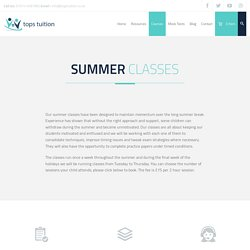 Summer Classes - Tops Tuition