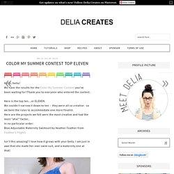 Color My Summer Contest TOP Eleven