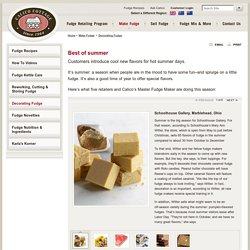 Best of Summer - Decorate Fudge - Sell Fudge - Calico Cottage, Inc.