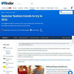 Summer fashion trends to try in 2021