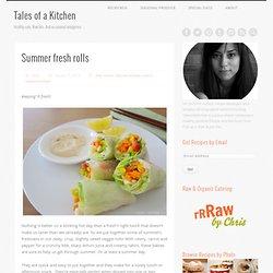 Summer fresh rolls