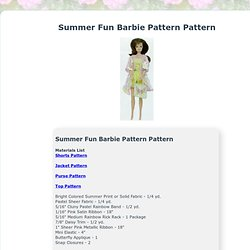 Summer Fun Barbie Patterns