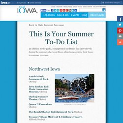 Summer Fun: Get Inspired: Regional Iowa Fun