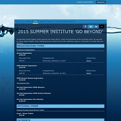 2015 Summer Institute 'Go Beyond' - Fees