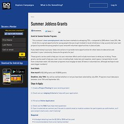 Summer Jobless Grants