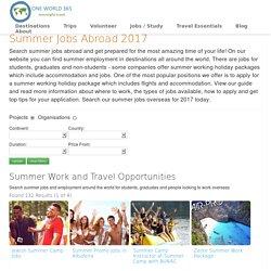 Summer Jobs Abroad 2017