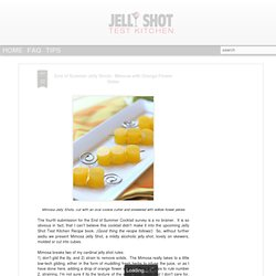 Jelly Shots - Mimosa
