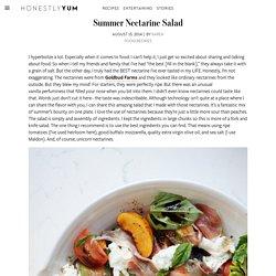 Summer Nectarine Salad – HonestlyYUM