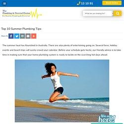 Top 10 Summer Plumbing Tips