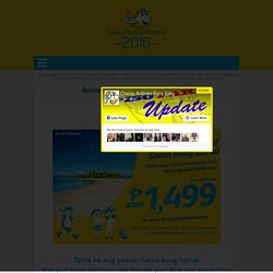 Cebu Pacific Promo Fare 2016 to 2017
