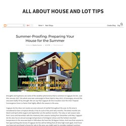 Summer-Proofing: Preparing Your House for the Summer