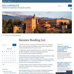 Summer Reading List « Ballandalus