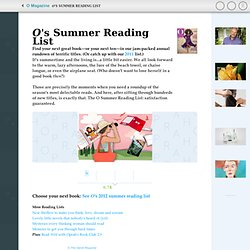 Summer Reading List - Summer Books