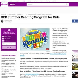HEB Summer Reading Program 2015