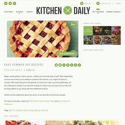 Easy Summer Pie Recipes