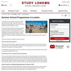 Summer School Programmes in London - Study London
