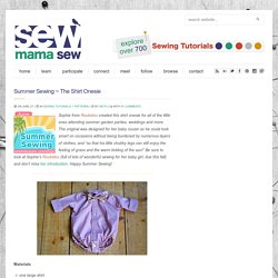 Summer Sewing ~ The Shirt Onesie