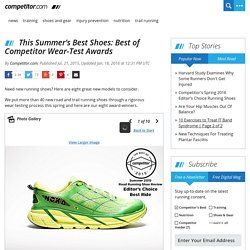 This Summer's Best Shoes: Best of Competitor Wear-Test Awards