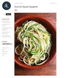 Summer Squash Spaghetti