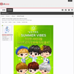 "ASTRO's ""Summer Vibes"" updates their LINE PLAY avatars."