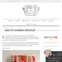 End of Summer Wristlet