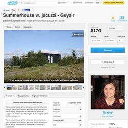 Summerhouse w. jacuzzi - Geysir à Reykholt