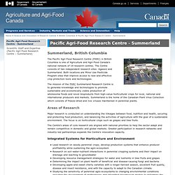 Pacific Agri-Food Research Centre - Agriculture and Agri-Food Canada (AAFC)