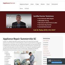Refrigerator Repair & Washer Service in Summerville, SC