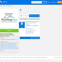 Summerville Roofing Ops's Bookmarks (User summervillerops)