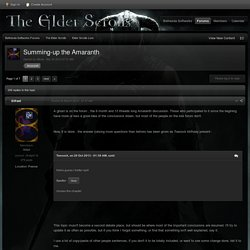 Summing-up the Amaranth - Elder Scrolls Lore