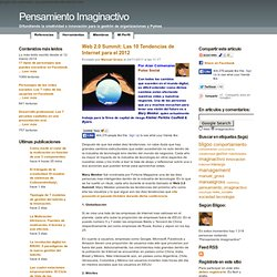 Web 2.0 Summit: Las 10 Tendencias de Internet para el 2012