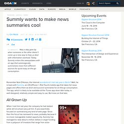 Summly wants to make news summaries cool