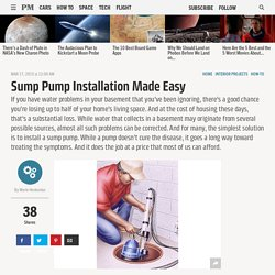 Sump Pump Installation - How to Install a Sump Pump