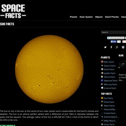 Sun Facts - Interesting Facts about the Sun (Sol)