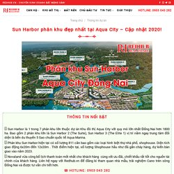 Sun Harbor phân khu đẹp nhất tại Aqua City - Cập nhật 2020