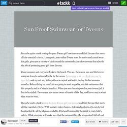 Sun Proof Swimwear for Tweens