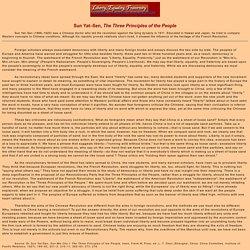 Sun Yat - Sen, The Three Principles of the People